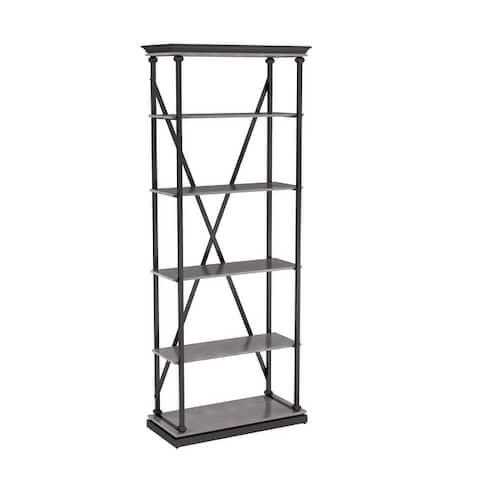 "Furniture of America Marcin Transitional Metal 33"" 5 Layer Bookcase"