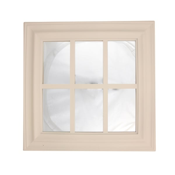 """17.25"""" Pure White Window Inspired Decorative Wall Mounted Mirror"""