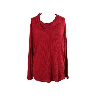 Style & Co Plus Size Red Cowl-Neck Sweater 3X