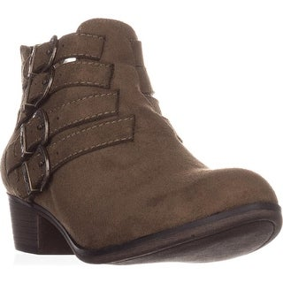 AR35 Darie Strappy Ankle Boots, Olive