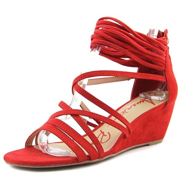 American Rag Mirah Women Open Toe Synthetic Red Wedge Sandal