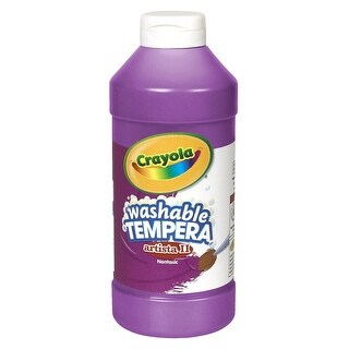 Crayola Artista II Non-Toxic Washable Tempera Paint, 1 pt Squeeze Bottle, Violet
