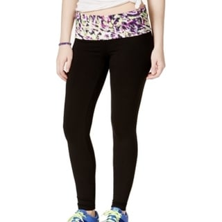 Material Girl NEW Black Size XS Junior Fold Over Athletic Leggings