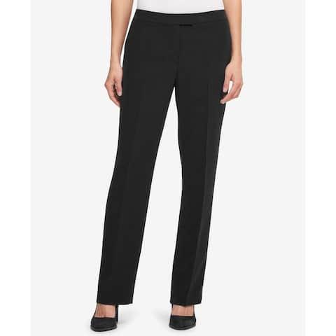 DKNY Women's Black Size 16 Bootcut Ponte Knit Dress Pants Stretch