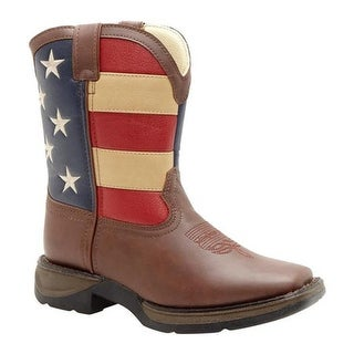 "Durango Boot Boys' BT245 8"" Lil' Durango Brown/Union Flag"