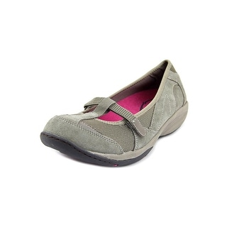 Easy Spirit Eslena Women Round Toe Suede Gray Flats