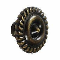 Cabinet Knob Antique Solid Brass 1 1/4 Dia |Renovator's Supply