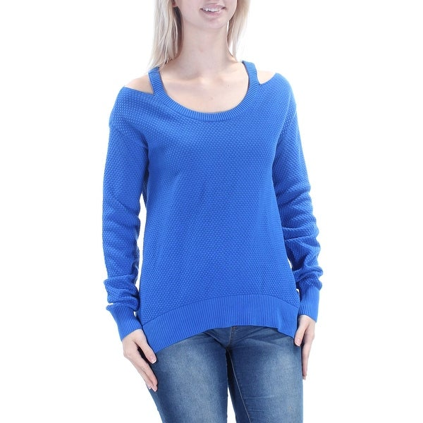 aab8b83ecfd Shop MICHAEL KORS Womens Blue Cut Out Textured Long Sleeve Jewel Neck Top  Size: S - On Sale - Free Shipping On Orders Over $45 - Overstock.com -  21353767