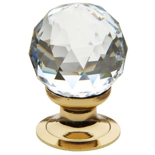Baldwin 4334.S Crystal 1-3/8 Inch Diameter Round Cabinet Knob from the Estate Collection