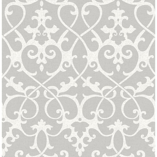 Brewster 2625-21866 Axiom Grey Ironwork Wallpaper - grey ironwork - N/A