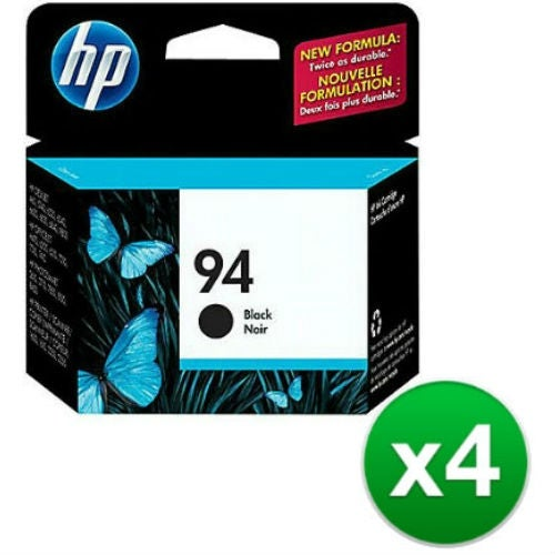 HP 94 Black Original Ink Cartridge (C8765WN) (4-Pack)