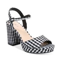Bar III Womens Callista Fabric Open Toe Ankle Strap Classic Pumps