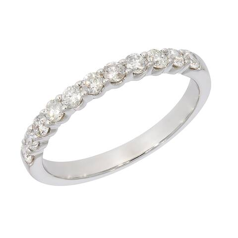 Prism Jewel 1/2Ct Round G-H Natural Diamond Stackable Band, 2.55mm Wide