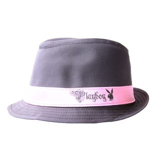 Playboy Fedora Hat - Grey
