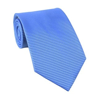 Calvin Klein Steel Avenue Tonal Striped Classic Silk Tie Blue - One Size Fits most