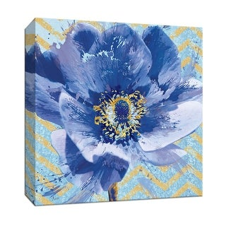 "PTM Images 9-147224  PTM Canvas Collection 12"" x 12"" - ""Chevron Power I"" Giclee Flowers Art Print on Canvas"