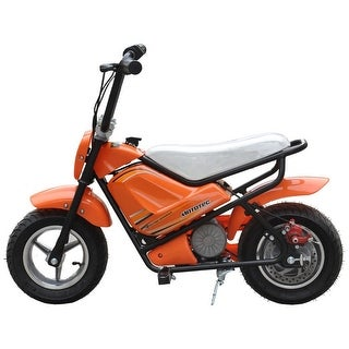MotoTec 24v Electric Orange Mini Bike