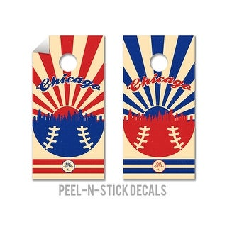Chicago Cubs Cornhole Board Decals