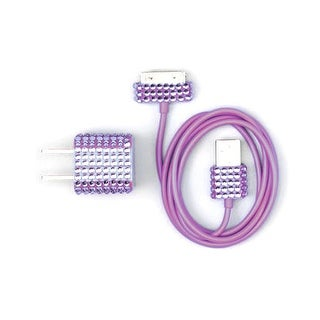 DigiCom Diamond 2-in-1 30-Pin USB AC Power Charger and Sync Cable for Apple iPho
