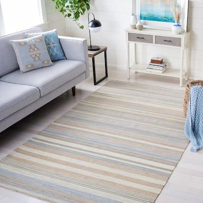 SAFAVIEH Handmade Kilim Svatava Stripe Jute & Wool Rug