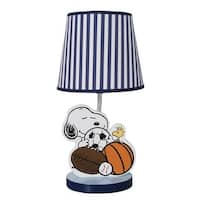 Bedtime Originals Snoopy™ Sports Blue/White Nursery Lamp with Shade & Bulb