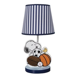 Bedtime Originals Blue Snoopy Sports Lamp with Shade & Bulb