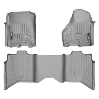 WeatherTech Dodge Ram 1500/2500-3500 2012+ CrewCab Grey Front & Rear Floor Mats FloorLiner 464781 462163