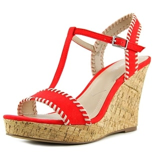 Charles By Charles David Lip Women  Open Toe Canvas  Wedge Sandal