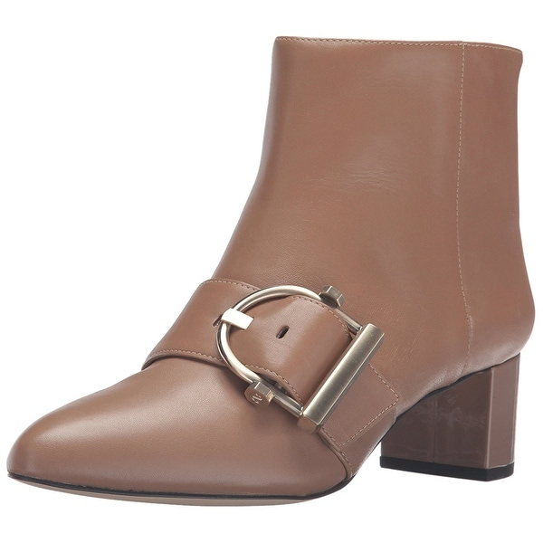 Nine West Womens Konah Leather Pointed Toe Ankle Fashion Boots