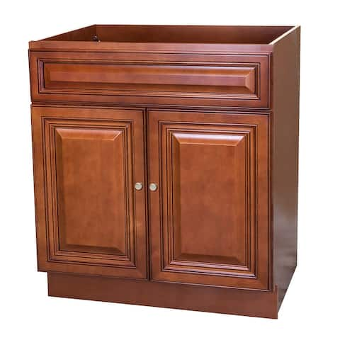 30X21 Cherry 2 Door Bathroom Vanity Cabinet