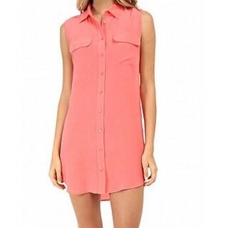 Equipment Femme NEW Pink Women's Size XS Shirt Shift Button-Front Dress
