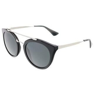 Prada PR 23SS 1AB1A1 Black Round Sunglasses