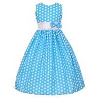 baec27b1c55 Shop Girls Yellow White Polka Dot Allover Bow Accented Easter Dress ...