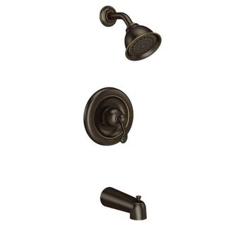 Moen T2123 Traditional Tub and Shower Trim Package with Single Function Shower Head - Less Valve (3 options available)