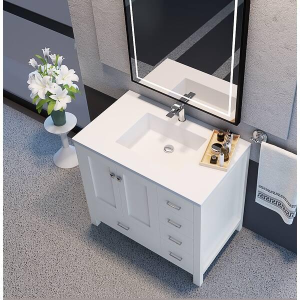 Shop Black Friday Deals On Serenity 36 72 Bathroom Vanity Tops In White Matte With Sink Overstock 31797220