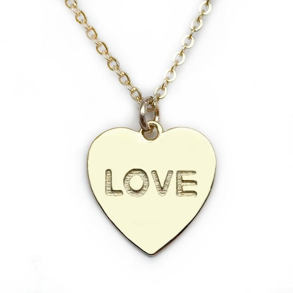 "Julieta Jewelry Love Heart Gold Charm 16"" Necklace"