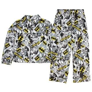 DC Comics Batman Flannel Coat Pajama Set