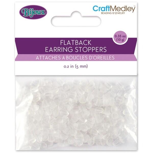 Rubber Flatback Earring Stoppers 5mm 200/Pkg-Clear