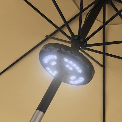 Rechargeable LED Patio Umbrella Light by Pure Garden
