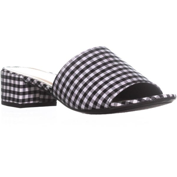 B35 Jane Heel Slide Sandals, Gingham