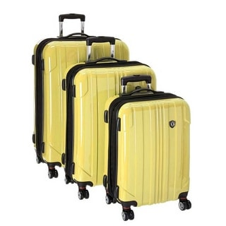 Travelers Choice Sedona 3-Piece Expandable Spinner Luggage - Yellow