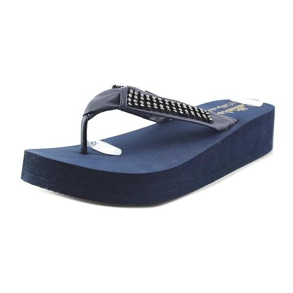 Callisto St. Croix Women Open Toe Synthetic Blue Wedge Sandal