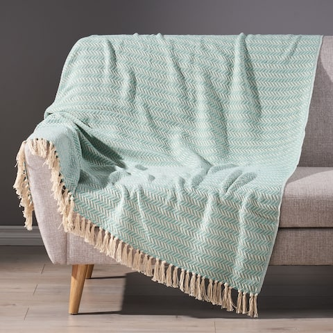 Fordyce Boho Handcrafted Cotton Throw Blanket by Christopher Knight Home