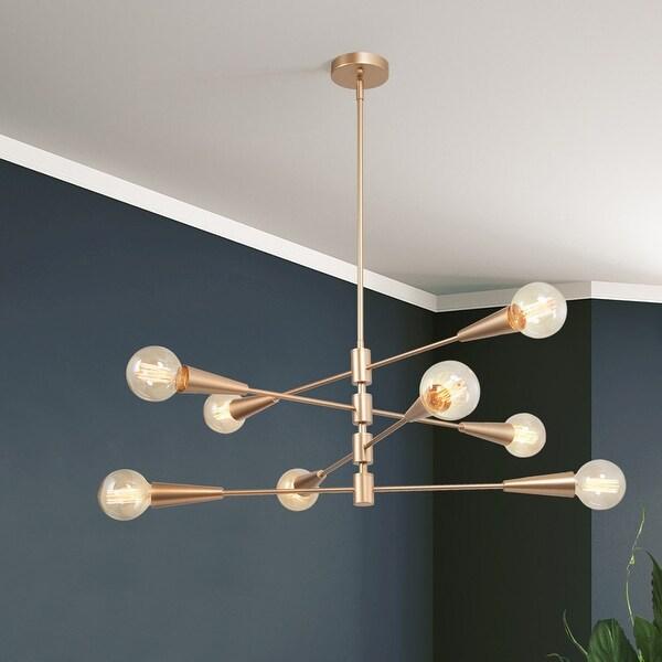 """Modern Sputnik Gold 8-light Metal Chandelier Adjustable Ceiling Light - L31""""*W31""""*H74"""""""
