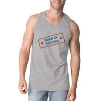 365 Printing Born In The USA Gray Unique Graphic Tank Top For Men Gift Ideas
