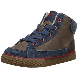 Hanna Andersson Boys Little Kid Leather Fashion Sneakers - 3 medium (d)