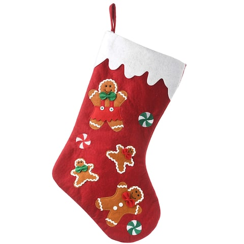 """20"""" Be Merry Collection Gingerbread Stocking - 20 in"""