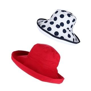 Scala Women's UPF 50+ Travel Sun Hat (Pack of 2)