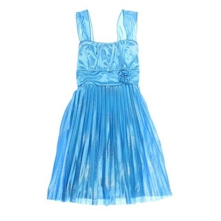Amy Byer Girls Big Kid Pleated Special Occasion Dress - 12