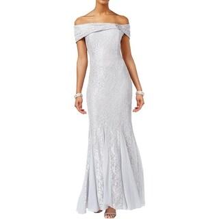 Alex Evenings Womens Formal Dress Lace Off the Shoulder - 12